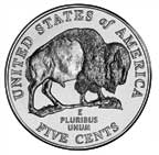 Bison Nickel Reverse