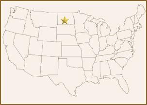 Bismarck Washburn And Mandan North Dakota On The Lewis And Clark Trail - North dakota on the us map
