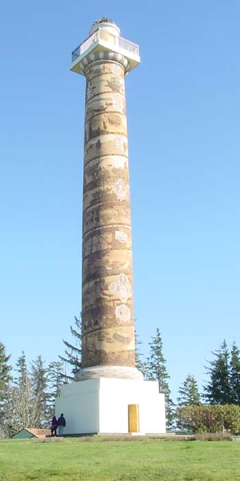 Astoria Column In Astoria Oregon On The Lewis And Clark Trail