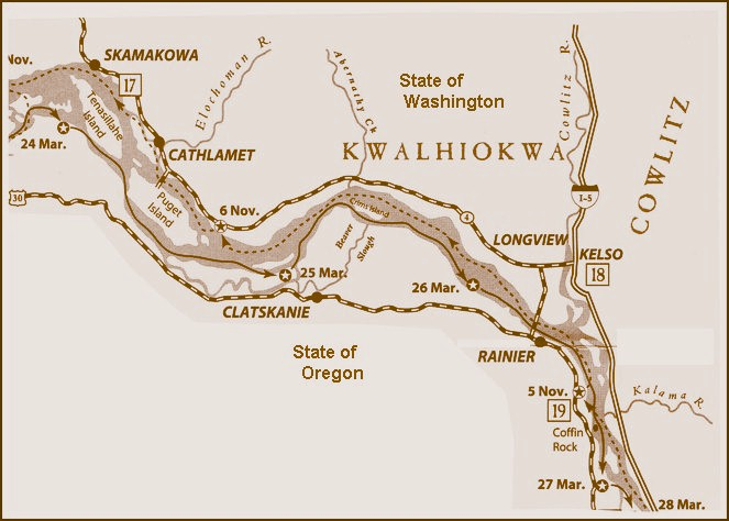 Mapping the Lewis and Clark Trail in Kelso Washington – Lewis And Clark Travel Map